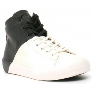 Scarpe Uomo Sneakers alte Leather Crown Sneakers Bianco