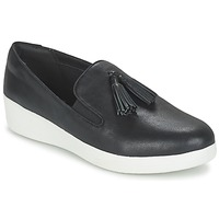 Scarpe Donna Slip on FitFlop TASSEL SUPERSKATE Nero