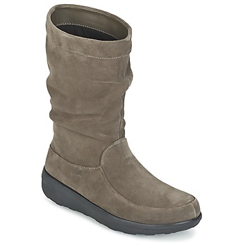 Scarpe Donna Stivaletti FitFlop LOAF SLOUCHY KNEE BOOT SUEDE Taupe