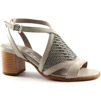 Scarpe Donna Sandali Keys 5411 grigio scarpe donna sandalo cinturino intreccio Grigio