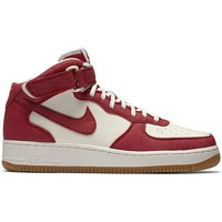 Scarpe Uomo Sneakers alte Nike Air Force 1 Mid 07 Rosso