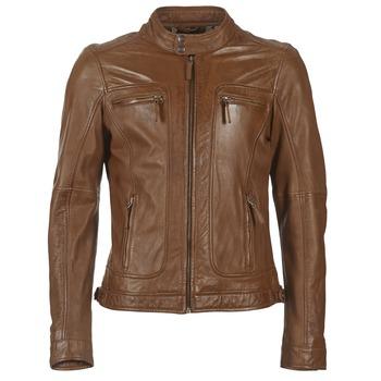 Abbigliamento Uomo Giacca in cuoio / simil cuoio Oakwood 60901 COGNAC
