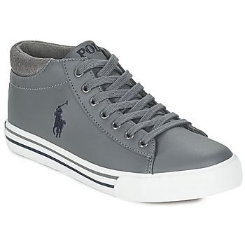 Scarpe Bambino Sneakers alte Polo Ralph Lauren HARRISON MID Grigio