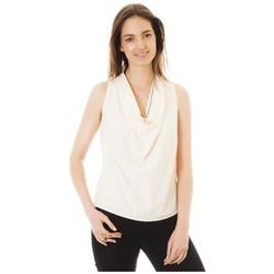 Abbigliamento Donna Top / T-shirt senza maniche Little Marcel Débardeur Tina Ecru Bianco