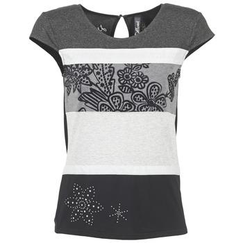 Abbigliamento Donna T-shirt maniche corte Desigual KITEPI Bianco / Grigio / Nero