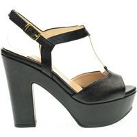 Scarpe Donna Sandali L'amour donna sandalo 335 MIU80 Nero Pelle