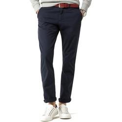 Abbigliamento Uomo Pantaloni 5 tasche Tommy Hilfiger DENTON CHINO ORG STR TWILL blu marino