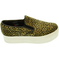 Scarpe Donna Slip on Jc Play donna slip on con piattaforma SLIP ON PONY LEO brown black Leopardato