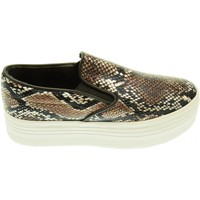 Scarpe Donna Slip on Jc Play donna slip on con piattaforma SLIP ON SNAKE grey black Grigio / nero