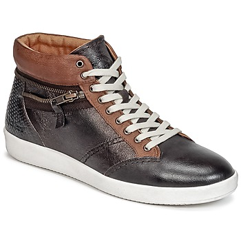 Scarpe Donna Sneakers alte Kickers HAPPYZIP Marrone / Scuro / Metallo