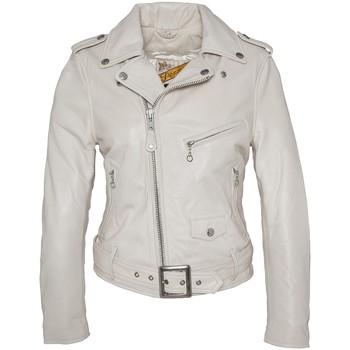 Abbigliamento Donna Giacca in cuoio / simil cuoio Schott PERFECTO FEMME  Blanc LCW 8600 Bianco