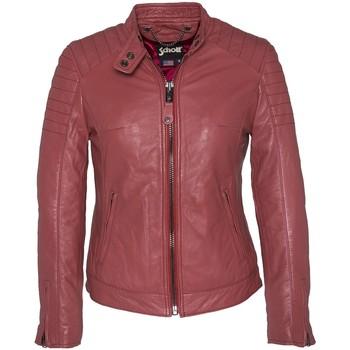 Abbigliamento Donna Giubbotti Schott BLOUSON MOTARD AC LCWHARVEY  MATELASSES  ROUGE Rosa