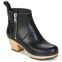 Scarpe Donna Stivaletti Swedish hasbeens ZIP IT EMY Nero