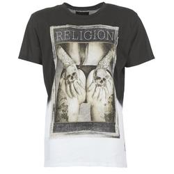 Abbigliamento Uomo T-shirt maniche corte Religion GRABBING Bianco / Nero