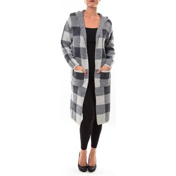 Abbigliamento Donna Gilet / Cardigan De Fil En Aiguille Cardigan long K100 gris Grigio