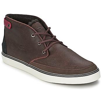 Scarpe Uomo Sneakers alte Lacoste CLAVEL 17 Marrone