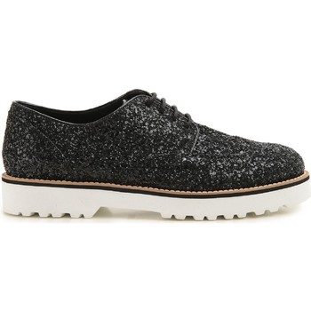 Scarpe Hogan  Stringate donna in pelle e brillantini