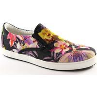 Scarpe Donna Sneakers basse Prodotto Italiano PIT-FIORI-NE Multicolore