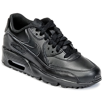 Scarpe Unisex bambino Sneakers basse Nike AIR MAX 90 LEATHER GRADE SCHOOL Nero