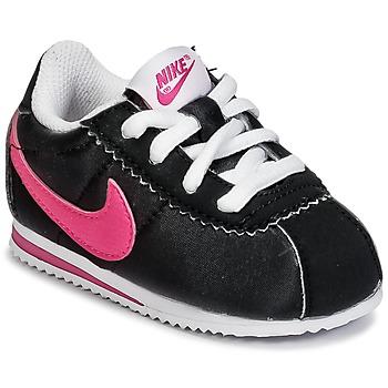 Scarpe Bambina Sneakers basse Nike CORTEZ NYLON TODDLER Nero / Rosa