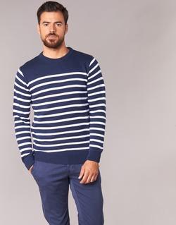 Abbigliamento Uomo Maglioni Casual Attitude FARCIELLE Marine / Bianco