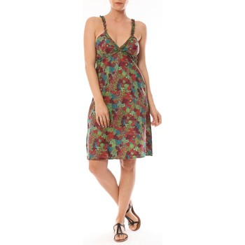 Abbigliamento Donna Abiti corti By La Vitrine Robe Bretelle Cocody imprimée Fleurs Multicolore