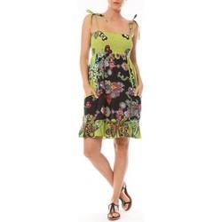 Abbigliamento Donna Abiti corti By La Vitrine Robe Bretelle Kolossi imprimée Fleurs Verde