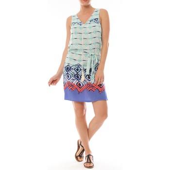 Abbigliamento Donna Abiti corti By La Vitrine Ema Blues Robe Bambou Bleu Blu