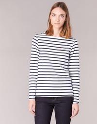 Abbigliamento Donna T-shirts a maniche lunghe Betty London FLIGEME Bianco / Blu