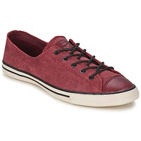 Scarpe Donna Sneakers basse Converse Chuck Taylor All Star FANCY LEATHER OX Bordeaux