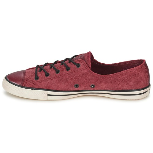 Chuck Fancy Taylor Star Basse All Leather Sneakers Bordeaux Converse Ox kN0O8nwPXZ