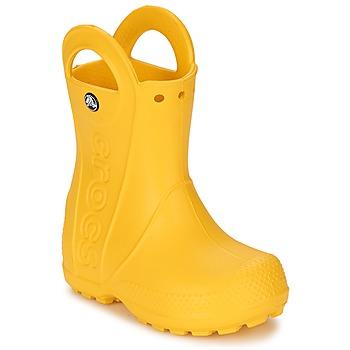 Scarpe Unisex bambino Stivali da pioggia Crocs HANDLE IT RAIN BOOT KIDS Giallo