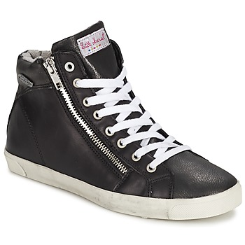 Scarpe Donna Sneakers alte Little Marcel PRATIK Nero
