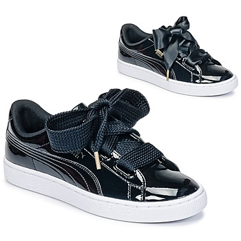 Scarpe Donna Sneakers basse Puma BASKET HEART PATENT WN'S Nero