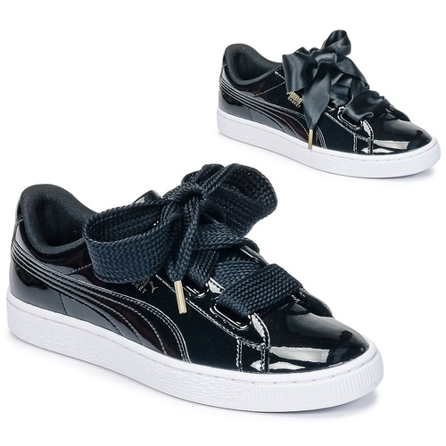 scarpe puma basket heart donna nero