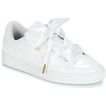 Scarpe Donna Sneakers basse Puma BASKET HEART PATENT WN'S Bianco