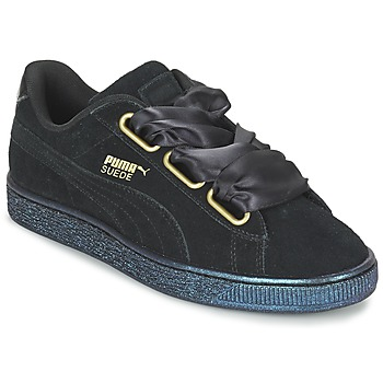 Scarpe Donna Sneakers basse Puma BASKET HEART SATIN WN'S Nero