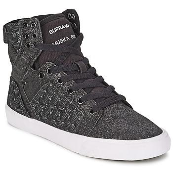 Scarpe Donna Sneakers alte Supra SKYTOP Nero / Bianco