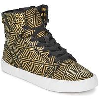 Scarpe Donna Sneakers alte Supra SKYTOP Dore / Nero