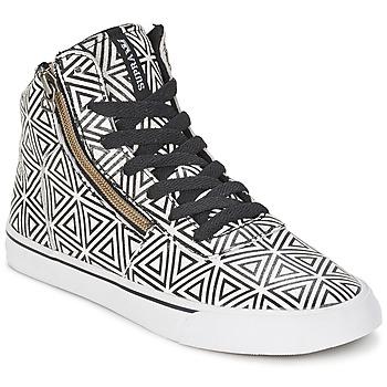 Scarpe Donna Sneakers alte Supra CUTTLER Bianco / Nero