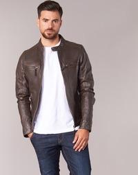 Abbigliamento Uomo Giacca in cuoio / simil cuoio Oakwood 60901 Marrone
