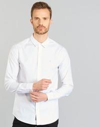 Abbigliamento Uomo Camicie maniche lunghe Calvin Klein Jeans WILBERT Bianco