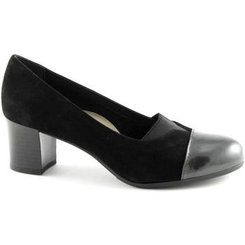 Scarpe Grunland  CIAC SC2321 topo nero scarpe donna decolletè elasticizzato