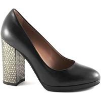 Scarpe Donna Décolleté Les Venues 6800 nero scarpe donna decolletè pelle tacco  plateaux Nero