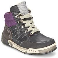 Scarpe Bambino Sneakers alte Garvalin TOMAS Grigio / Viola
