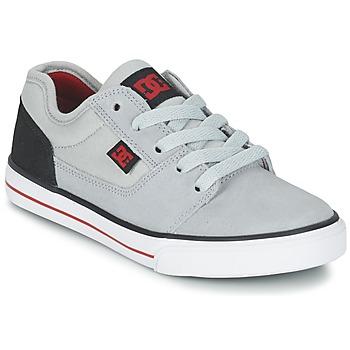 Scarpe Bambino Sneakers basse DC Shoes TONIK B SHOE XSKR Grigio / Nero / Rosso