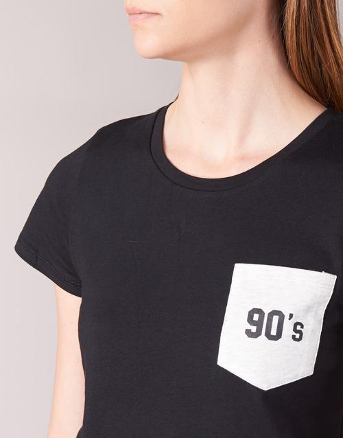 Donna Consegna Corte Yurban T shirt Abbigliamento Fiala Nero Gratuita Maniche 1000 BdoxerC