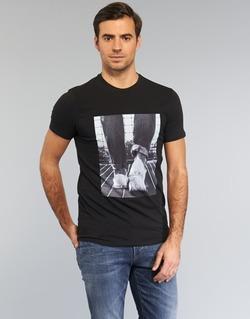 Abbigliamento Uomo T-shirt maniche corte Armani jeans JANADORI Nero