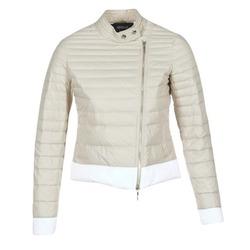 c9fb90b658422a Abbigliamento Donna Piumini Armani jeans BEAUJADO Beige / Bianco