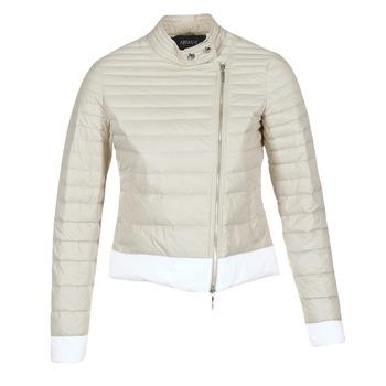 Abbigliamento Donna Piumini Armani jeans BEAUJADO Beige / Bianco